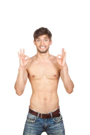 thin man: sexy man