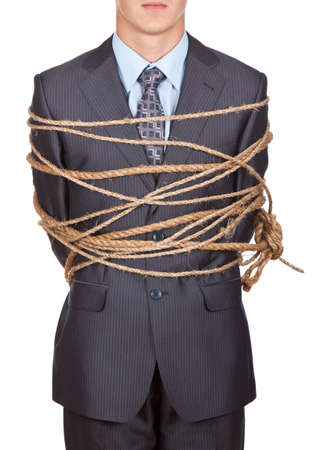 trapped: businessman Stock Photo