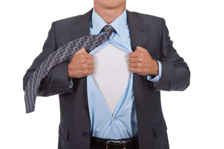 businessman superman Stock Photo - 10967715