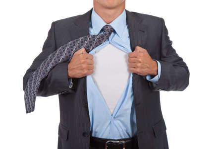 businessman superman Stock Photo - 10967715