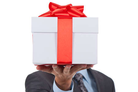gift parcel: gift box businessman