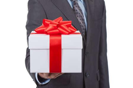 gift box businessman photo