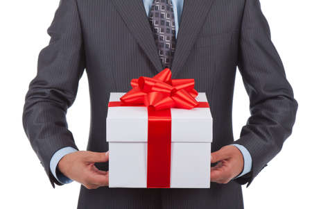 gift box businessman