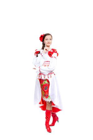 beautiful girl in ukrainian polish national traditional clothes Stock Photo - 13242975