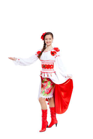 beautiful girl in ukrainian polish national traditional clothes Stock Photo - 13243048