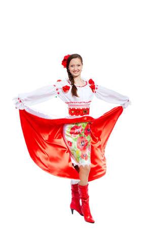 beautiful girl in ukrainian polish national traditional clothes Stock Photo - 13243081
