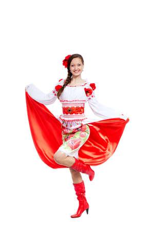 beautiful girl in ukrainian polish national traditional clothes Stock Photo - 13243063