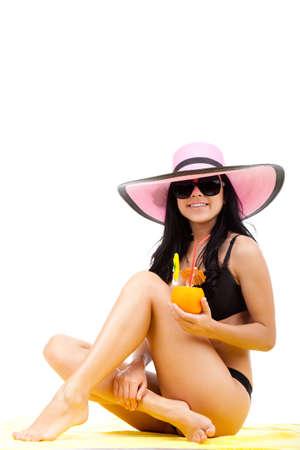 beautiful summer woman photo