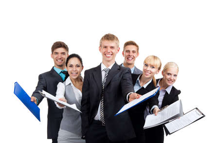 sales team: group of business people Stock Photo