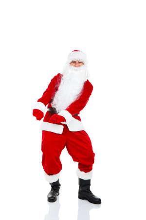 merry dancers: Santa Claus Stock Photo