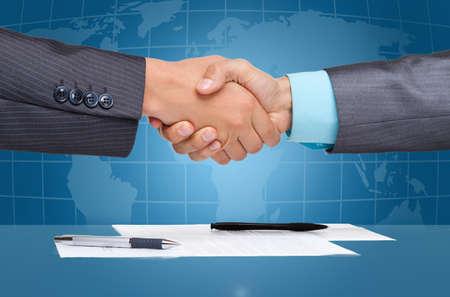 global trade: Handshake
