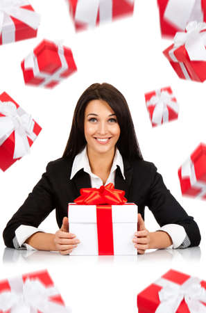 businesswoman creative design photo