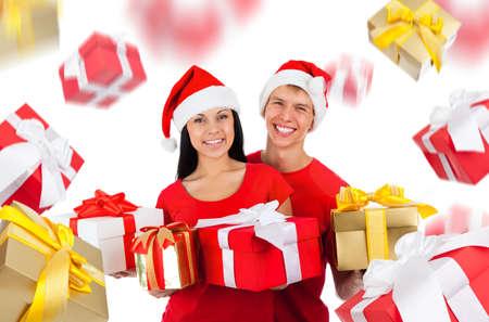 christmas couple creative disign photo