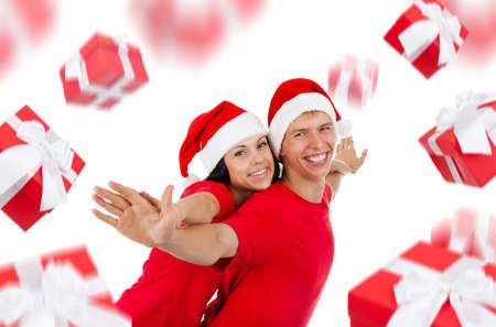 disign: christmas couple creative disign