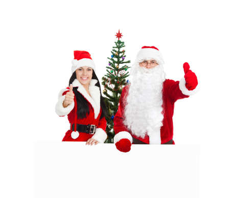 Santa Clause and Santa Giirl Stock Photo - 16584770
