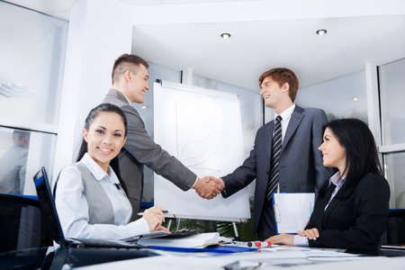 negotiation business: Business people