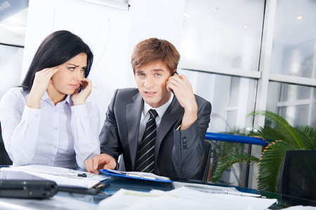 persona confundida: La gente de negocios