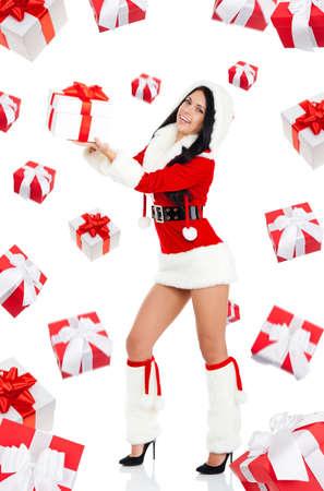 Santa girl creative design photo