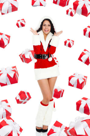 Santa girl creative design photo