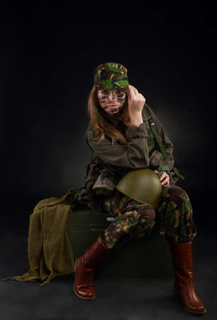 millitary girl photo