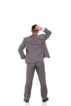 persona confundida: hombre de negocios