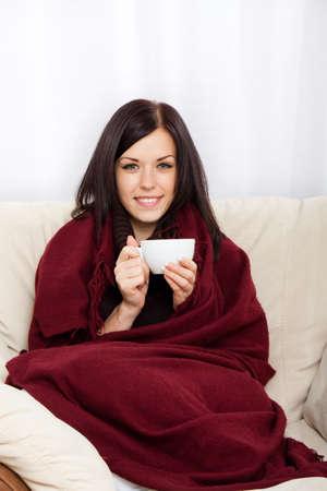 chaud froid: jeune femme