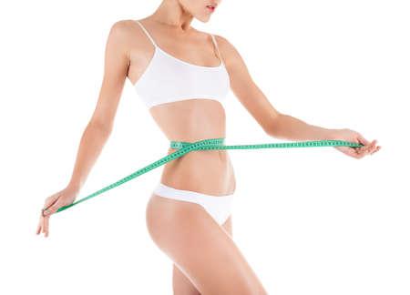 cintura perfecta: Mujer medida de la cintura, la figura del cuerpo delgado perfecto