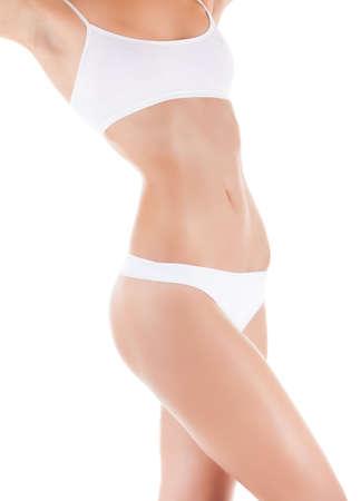 girls in panties: women waist body beauty belly Stock Photo