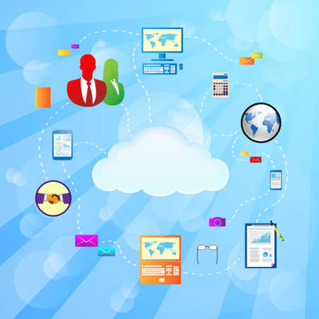 Cloud internet connection icon Vector Illustration Vector