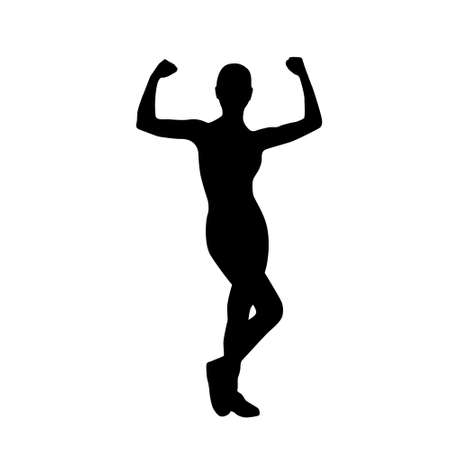 sport fitness woman exercise workout silhouettes