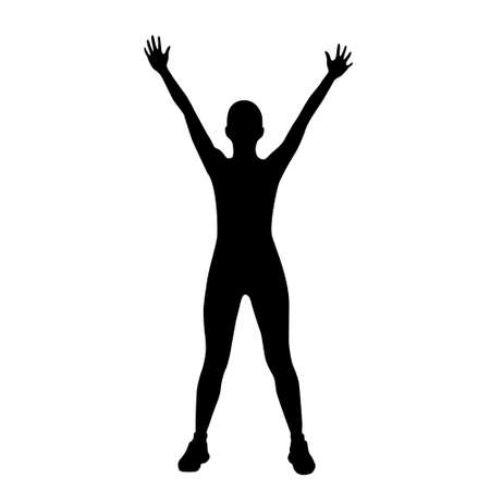 cellulite: sport fitness woman exercise workout silhouettes