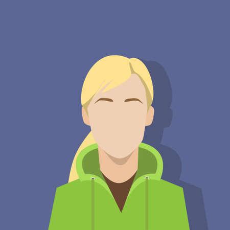 プロファイル アイコン女性アバターの女性の肖像画  イラスト・ベクター素材
