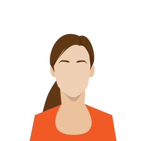 profile icon female avatar woman portrait Vector