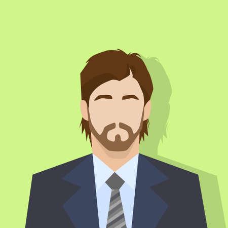 male portrait: businessman profile icon male portrait flat Illustration