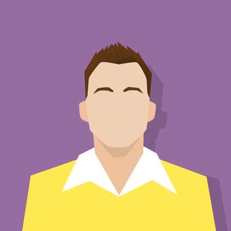 male portrait: profile icon male avatar portrait casual person