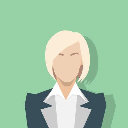 entrepreneur: businesswoman profile icon female portrait flat Illustration