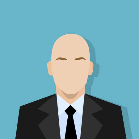 internet user: businessman profile icon male portrait flat Illustration