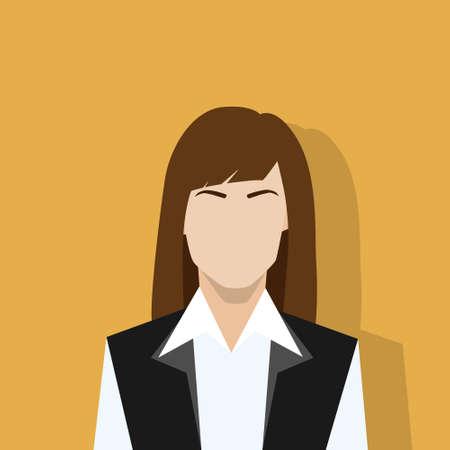 businesswoman profile icon female portrait flat Çizim