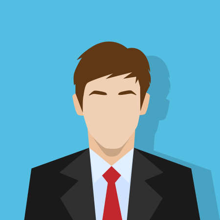 businessman profile icon male portrait flat Çizim