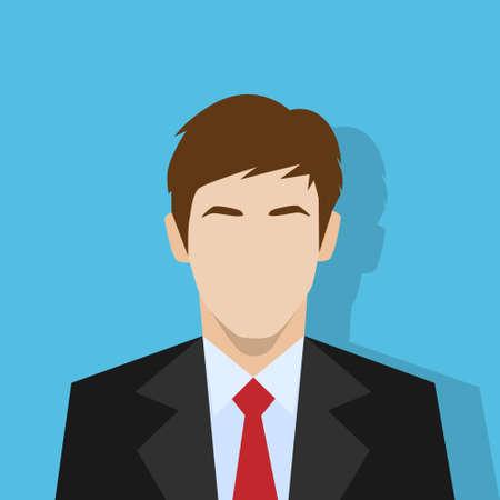 businessman profile icon male portrait flat Illustration