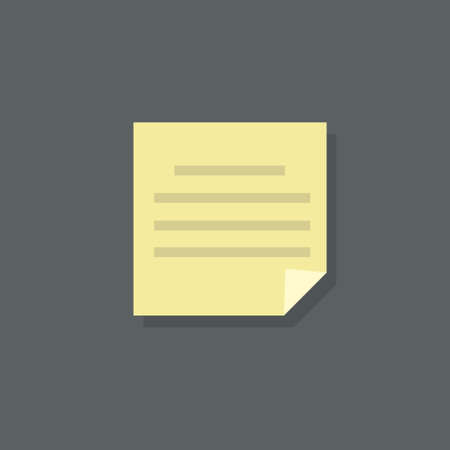 note pad: text note paper document flat design vector illustration Illustration