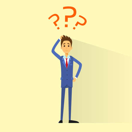 business man with question mark concept Vectores