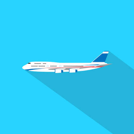 airplane: aircraft flat design style vector illustration airplane flying Illustration