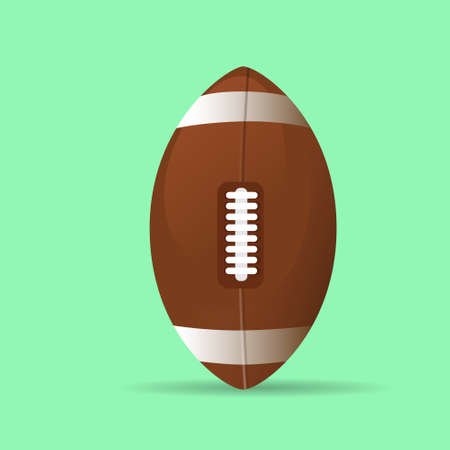 american football rugby ball icon flat vector Vector