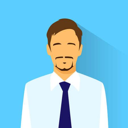businessman profile icon male portrait flat Çizim