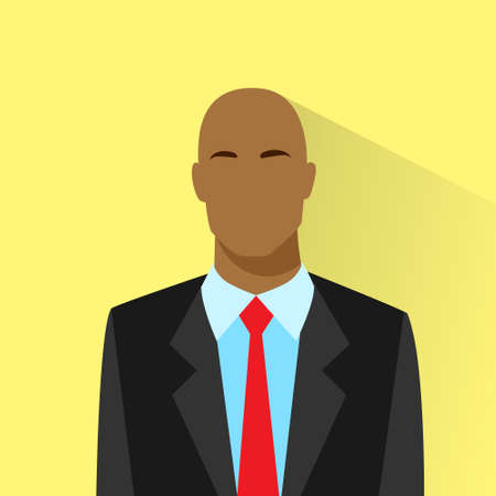 bold: businessman african american bold profile icon male portrait Illustration