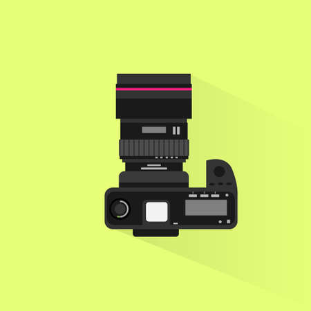 view icon: photo camera top view icon flat design vector