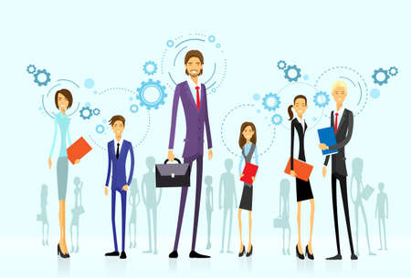 businesspeople team group, human resource flat Illustration