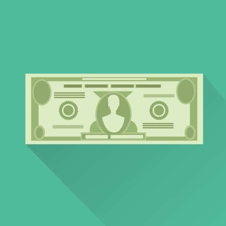 dollarmunt bankbiljet groene vector