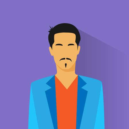 male portrait: businessman hispanic asia race profile icon male portrait